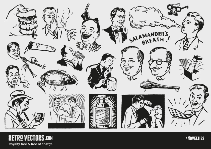 50s novelty advert clipart
