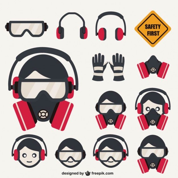 Safety elements pack  Vector | Free Download