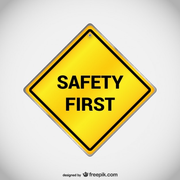 Safety first sign vector  Vector | Free Download