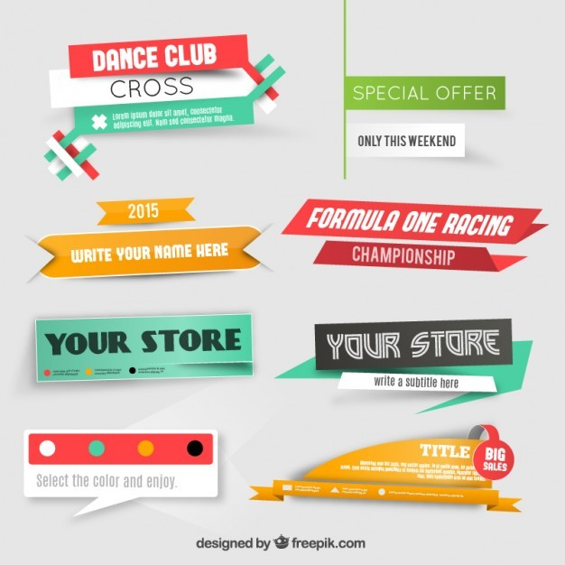 Sale banners for website  Vector | Free Download