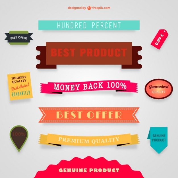 Sale vector banners and ribbons   Vector | Free Download