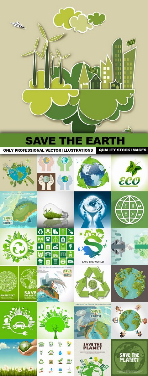 Save The Earth – 25 Vector