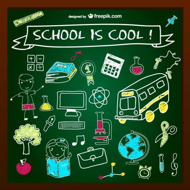 School is cool chalkboard design