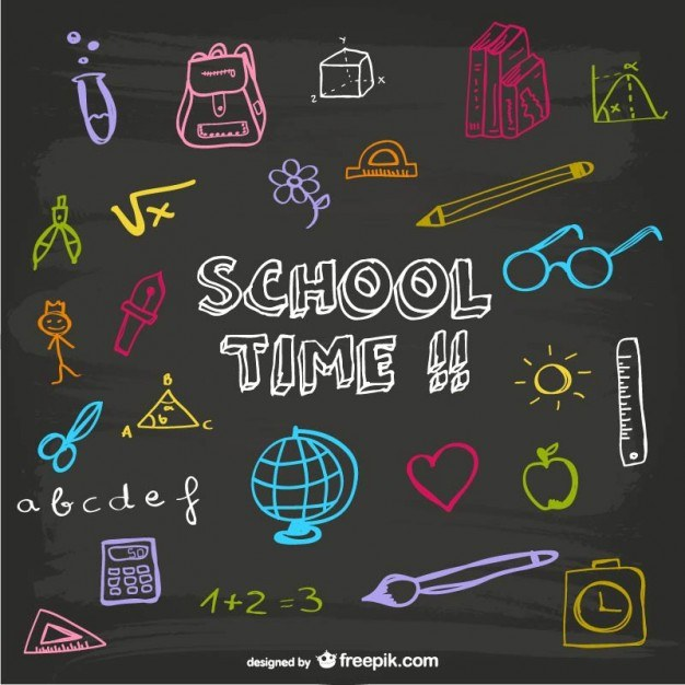 School time blackboard design