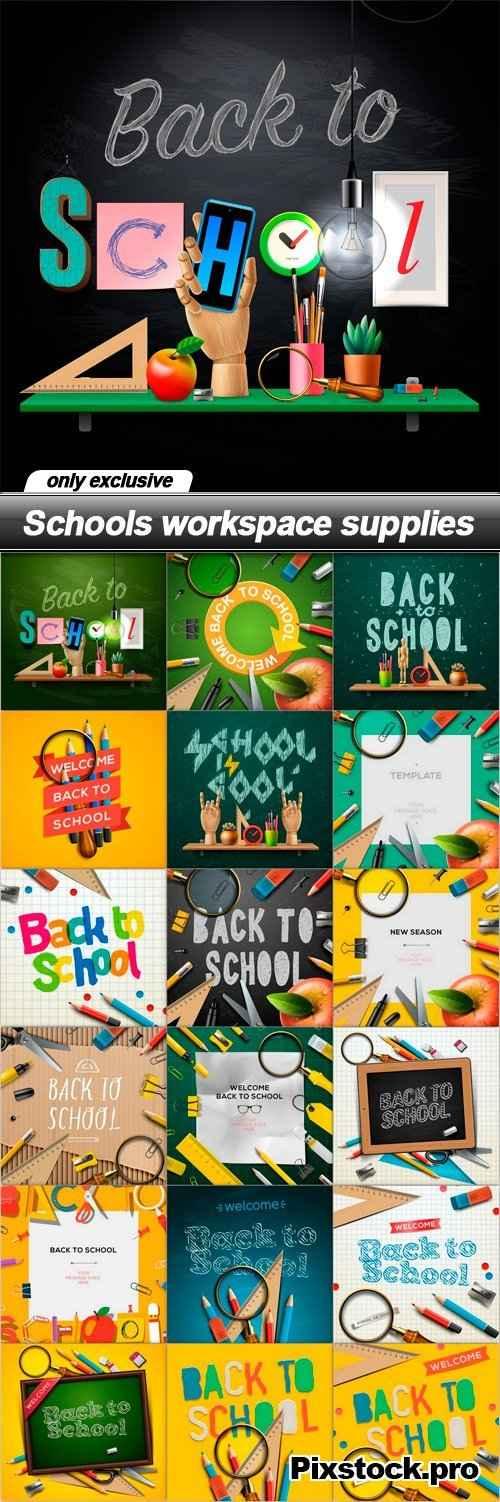 Schools workspace supplies – 19 EPS