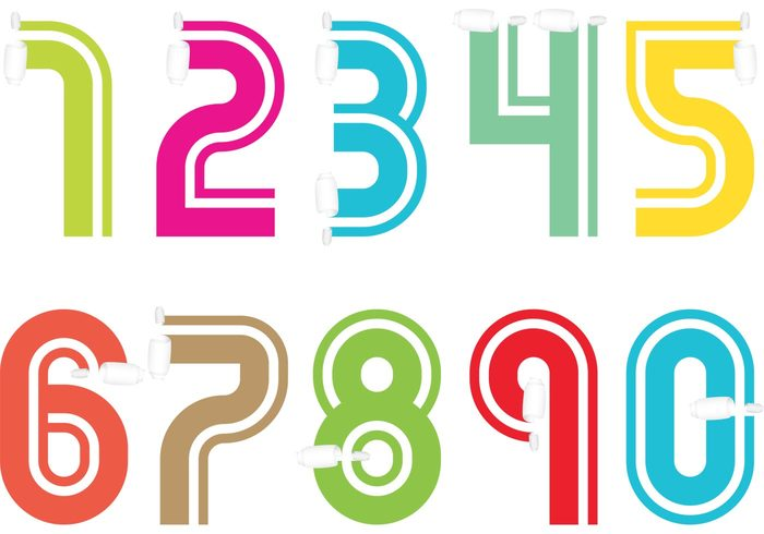 Scrolled Paper Number Vectors – Download Free Vector Art, Stock Graphics & Images