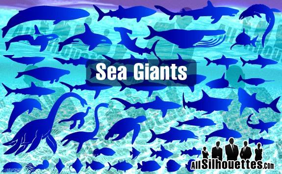 Sea & Ocean Giants – All-Silhouettes