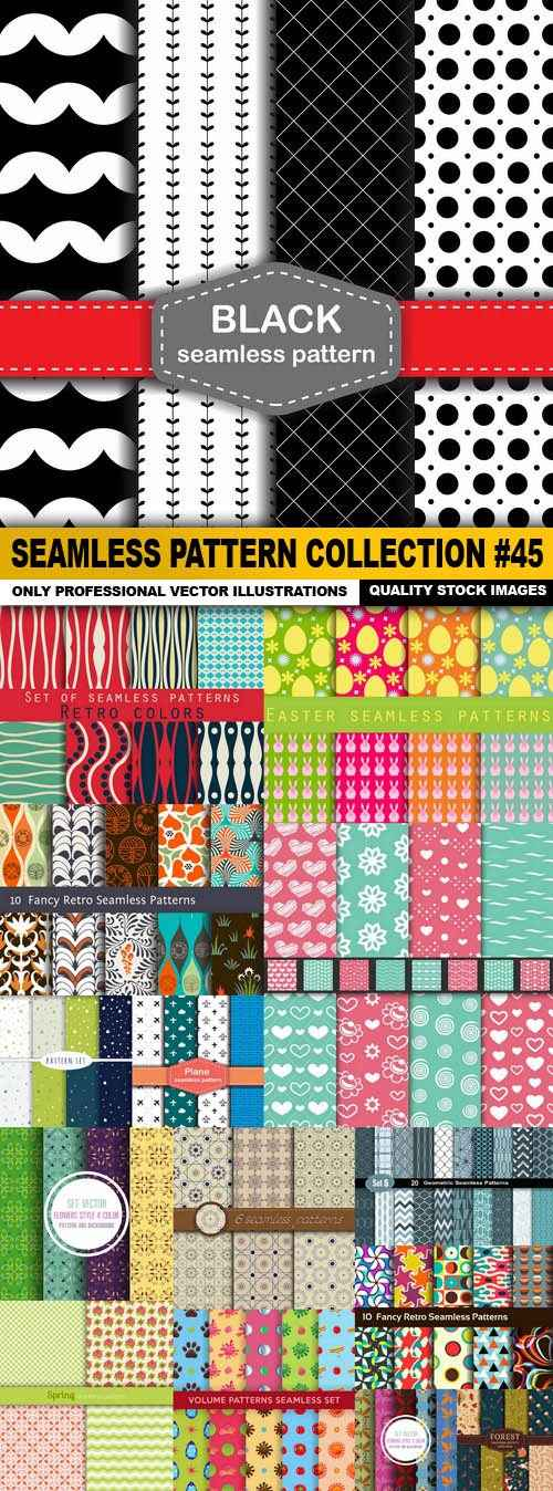 Seamless Pattern Collection #45 – 15 Vector
