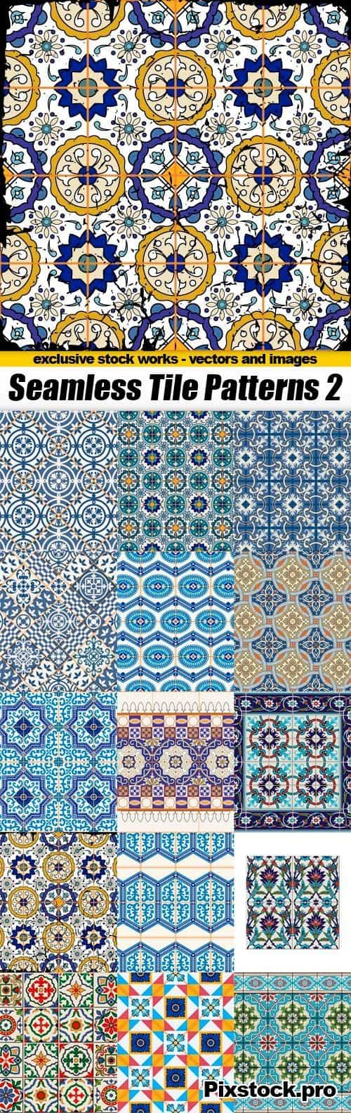 Seamless Tile Patterns Part 02 – 15x EPS