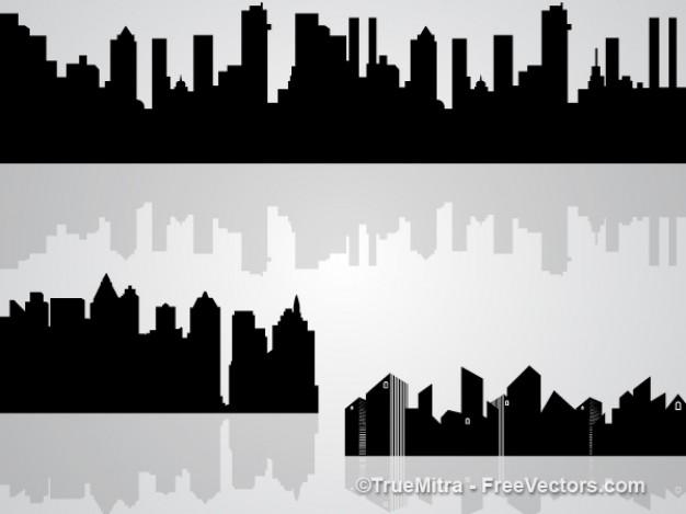 Set of buildings shapes