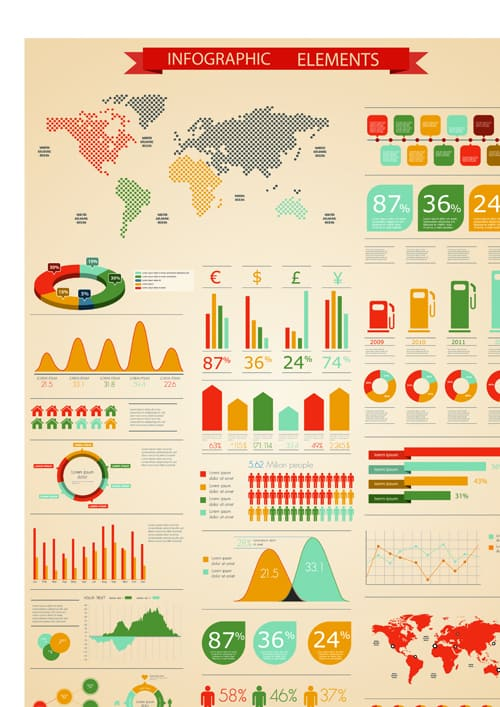 Set of Business infographics vector 04