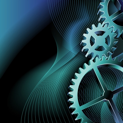 Set of Gears vector background 01
