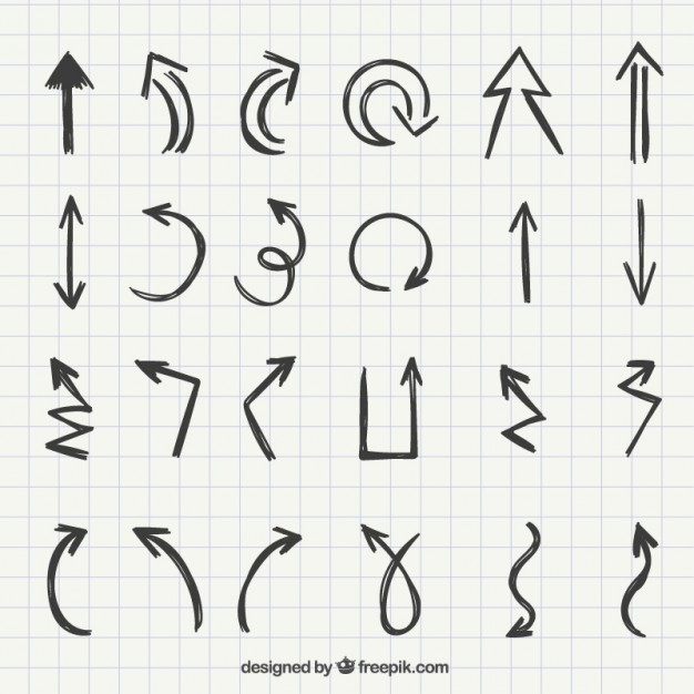Set of hand drawn arrows  Vector | Free Download