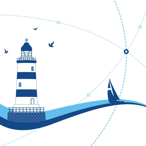 Set of Lighthouse vector material 05