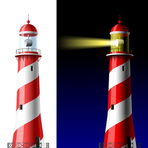 Set of Lighthouse vector material 04