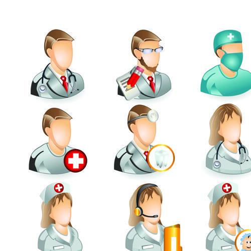 Set of Medicine elements icons vector 01