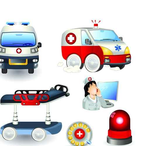 Set of Medicine elements icons vector 02