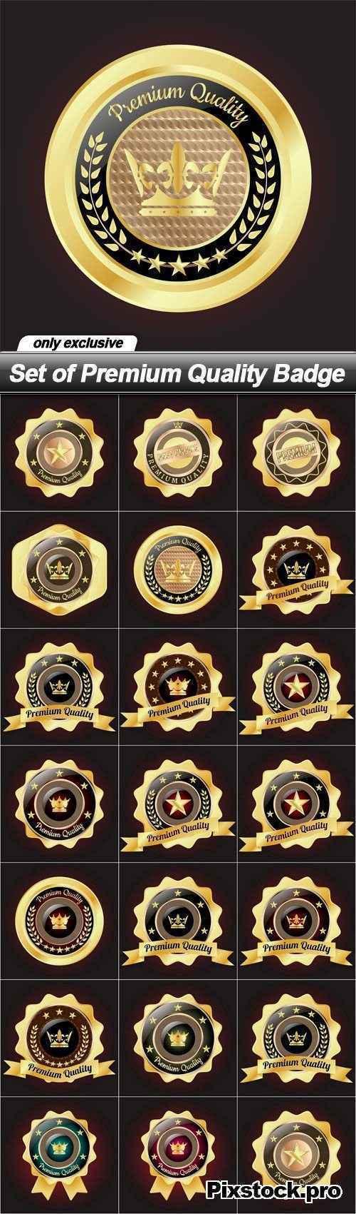 Set of Premium Quality Badge – 20 EPS
