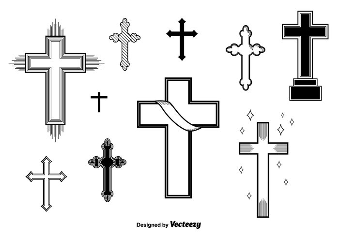 Set of Vector Crosses