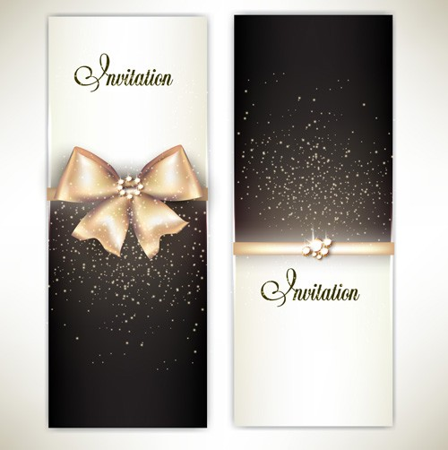 Shiny Holiday Gift Cards vector 05