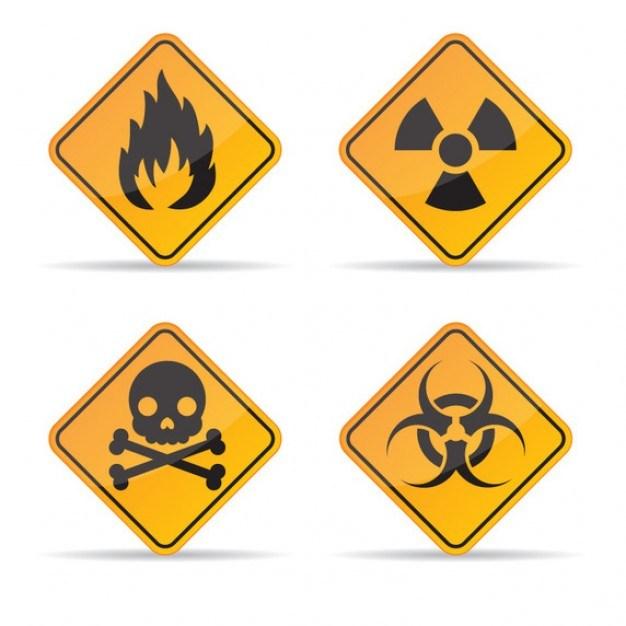 Signs of danger set  Vector | Free Download