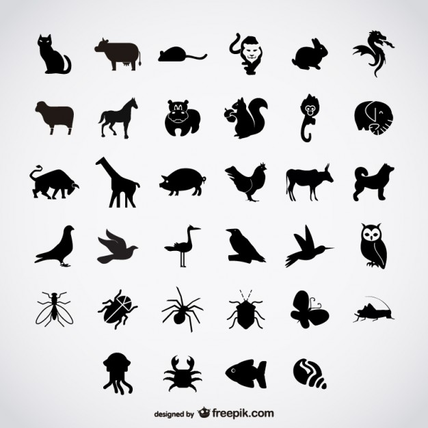 Simple birds silhouettes