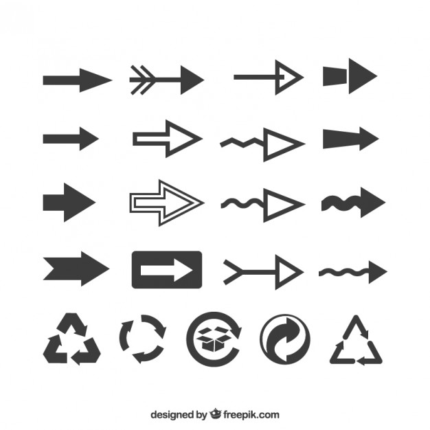 Simple Interface Arrows  Vector | Free Download