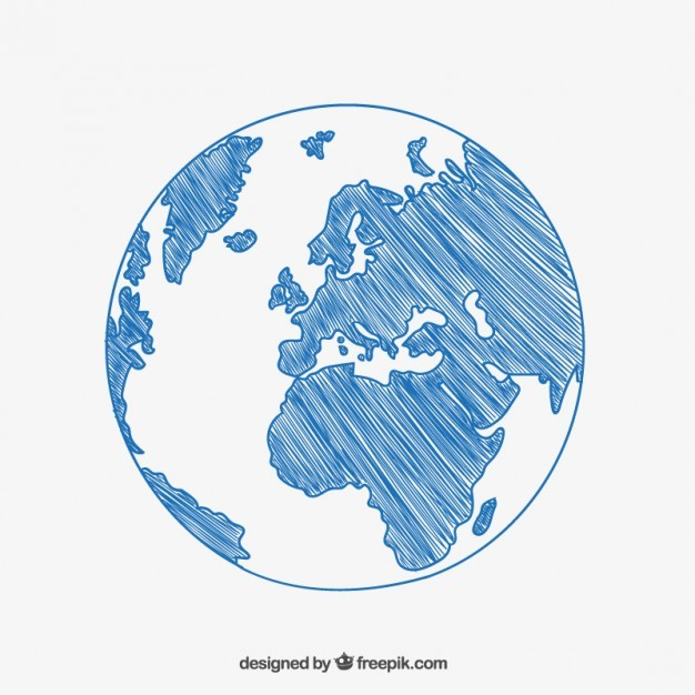 Sketchy globe drawing  Vector | Free Download