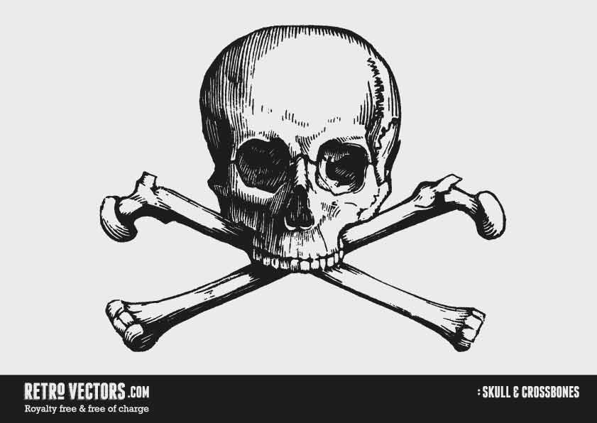 Skull & Cross bones | Free Retro Vectors