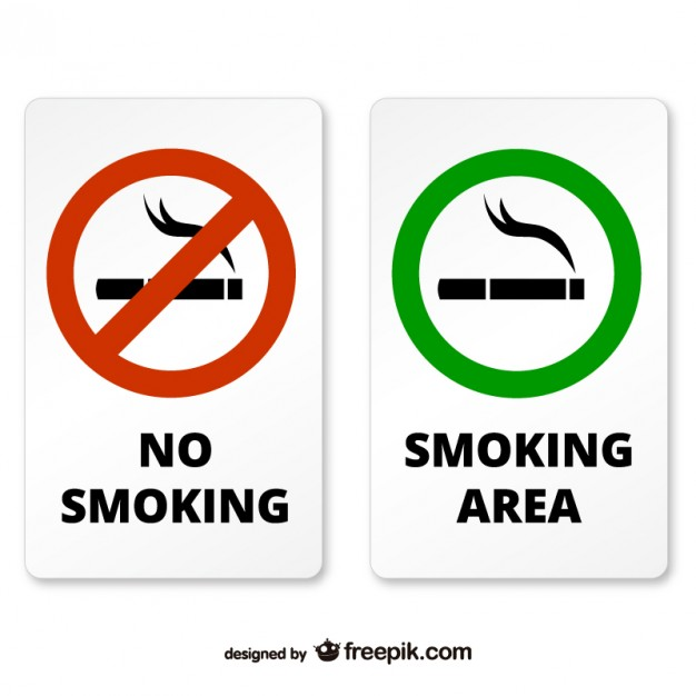 Smoking and non smoking area signs   Vector | Free Download
