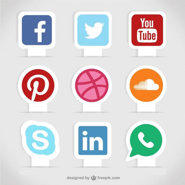 Social media labels  Vector | Free Download