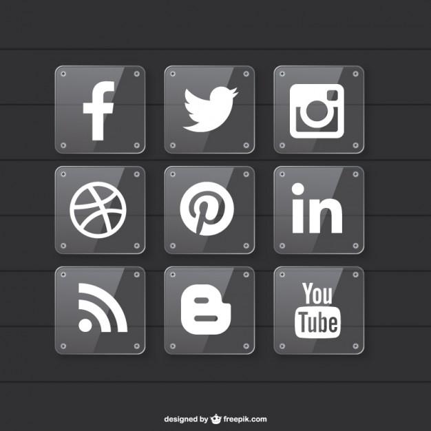 Social media transparent material design  Vector   Free Download