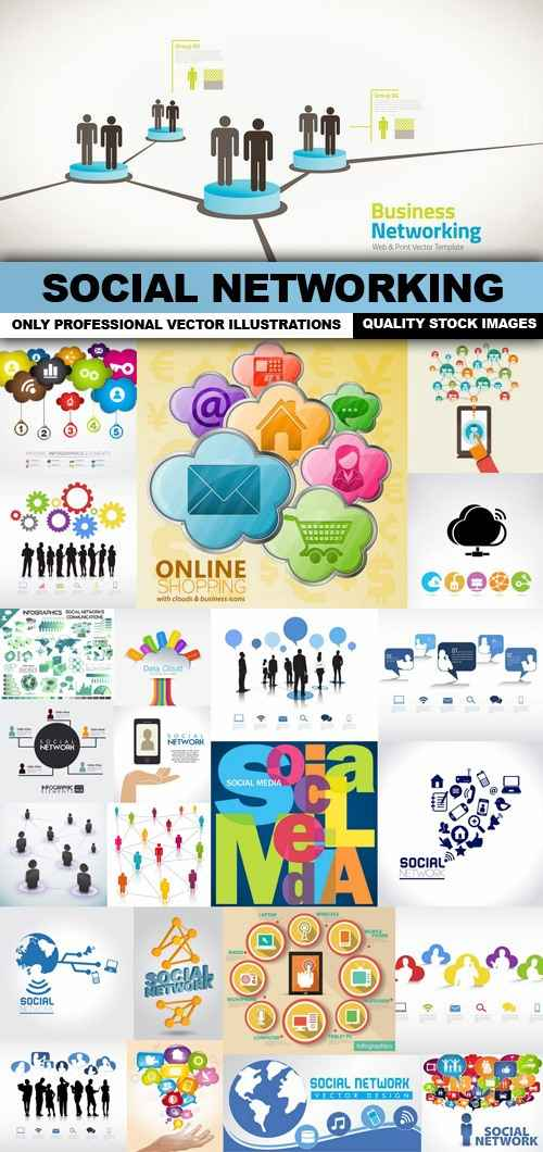 Social Networking – 25 Vector