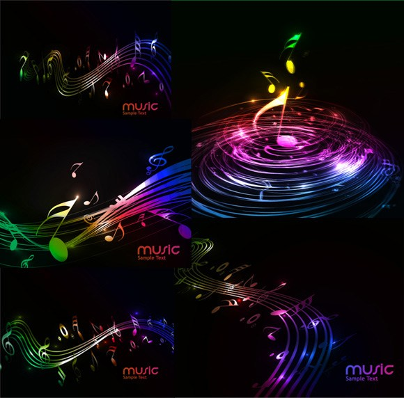 Soft music background vector
