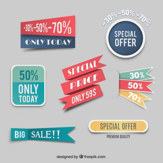 Special price labels  Vector | Free Download