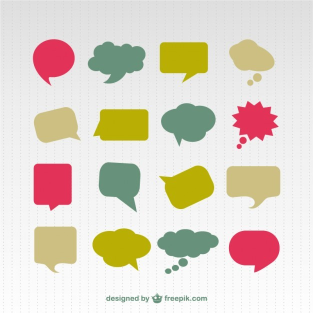 Speech bubble colorful set  Vector | Free Download