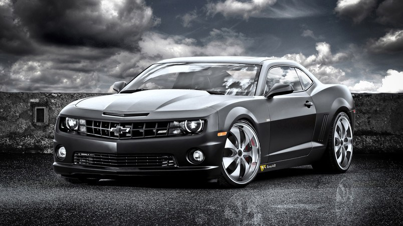 Speed Box Camaro SS Black Cat HD Wallpaper