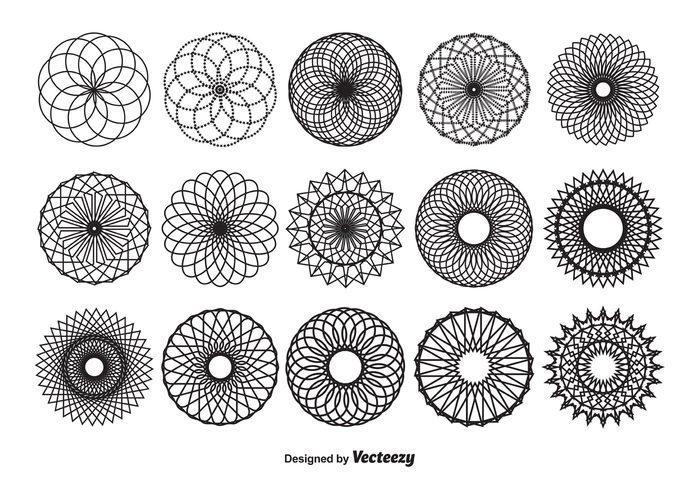 Spirograph Vector Shapes