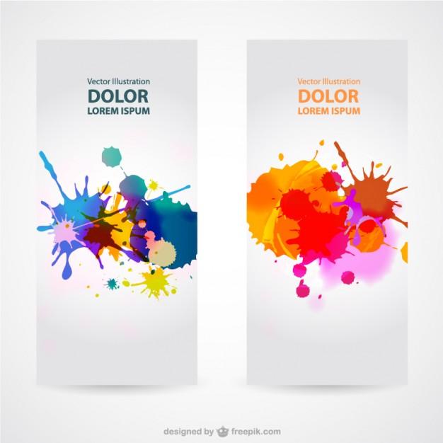 Splash banner sets vector   Vector | Free Download