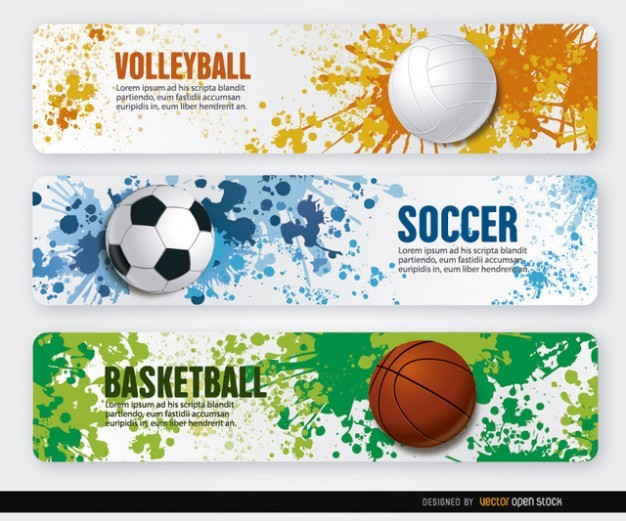 sport colourful banners  Vector | Free Download