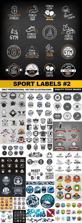 Sport Labels #2 – 18 Vector