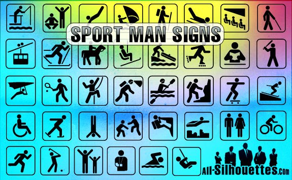 Sport Man Signs – All-Silhouettes
