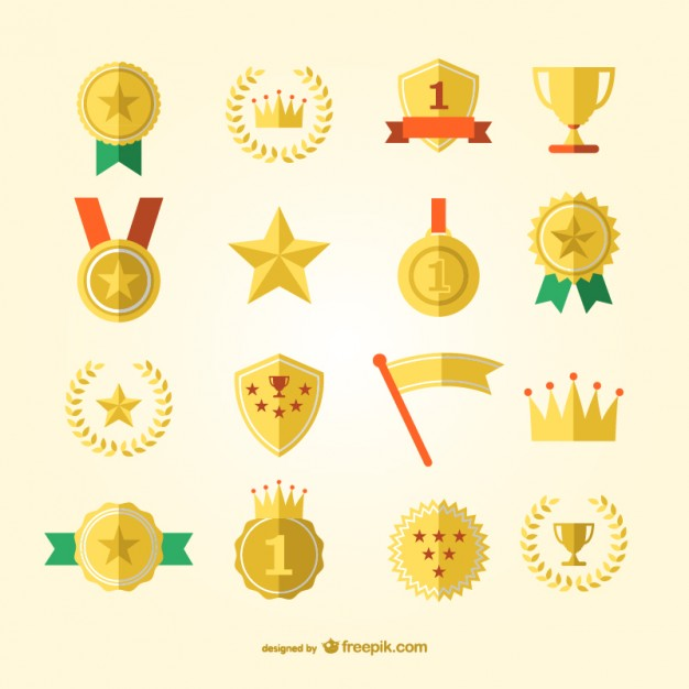 Sports award and medals vector set   Vector | Free Download