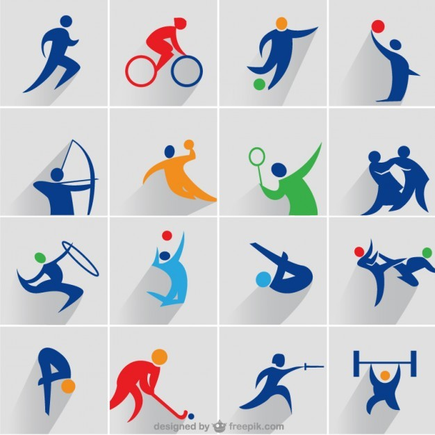 Sports vector icons set  Vector | Free Download
