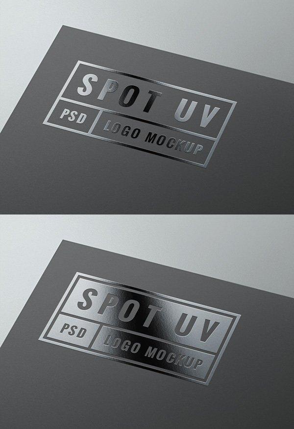 Spot UV Logo MockUp | GraphicBurger