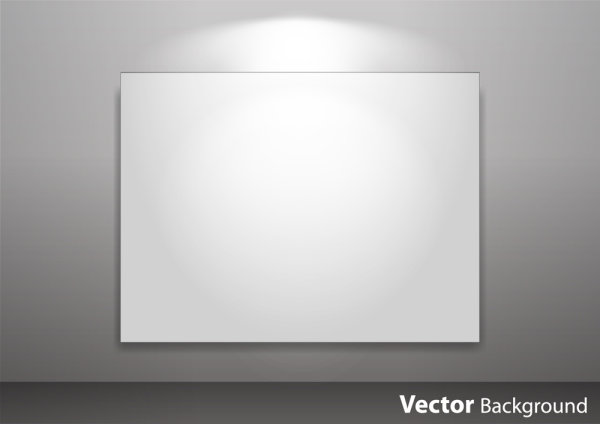 Spotlight Display wall background vector 05