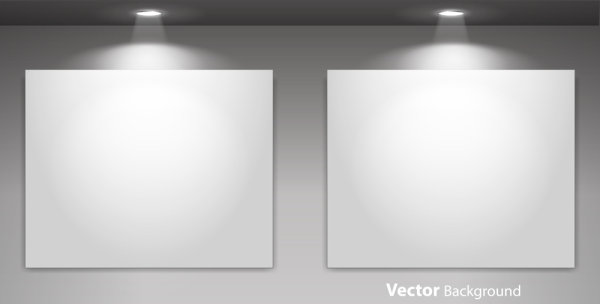 Spotlight Display wall background vector 03