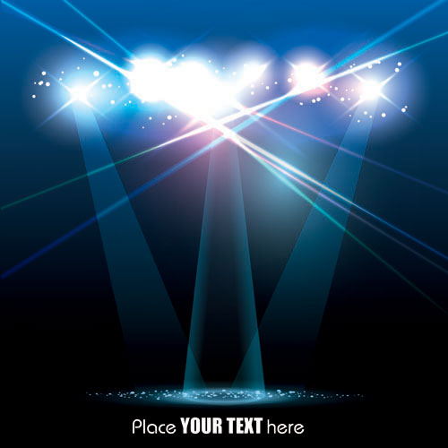Spotlight irradiate effect background vector 01