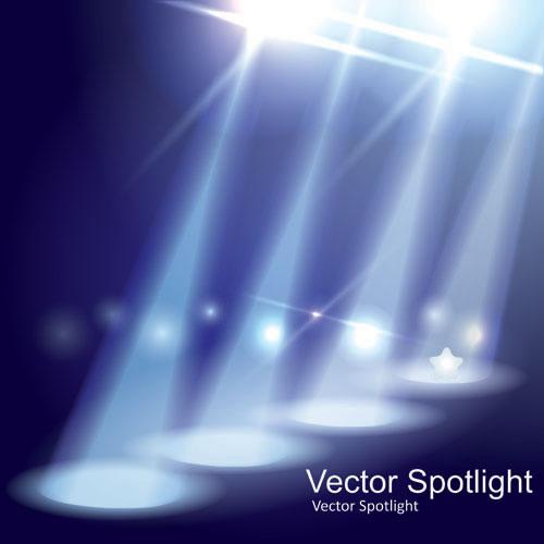 Spotlight irradiate effect background vector 02
