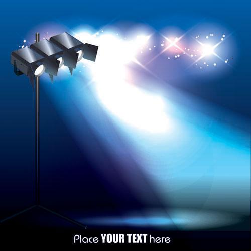 Spotlight irradiate effect background vector 05